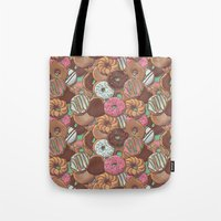 donuts Tote Bags featuring Donuts by Mario Zucca