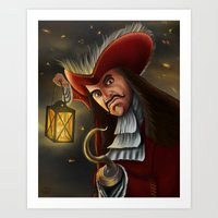 captain hook Art Prints featuring Hook by WITHDRAWN