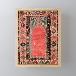 Sivas  Antique Cappadocian Turkish Niche Kilim Print Framed Mini Art Print