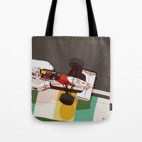 senna Tote Bags featuring Senna by Bruno Gabrielli