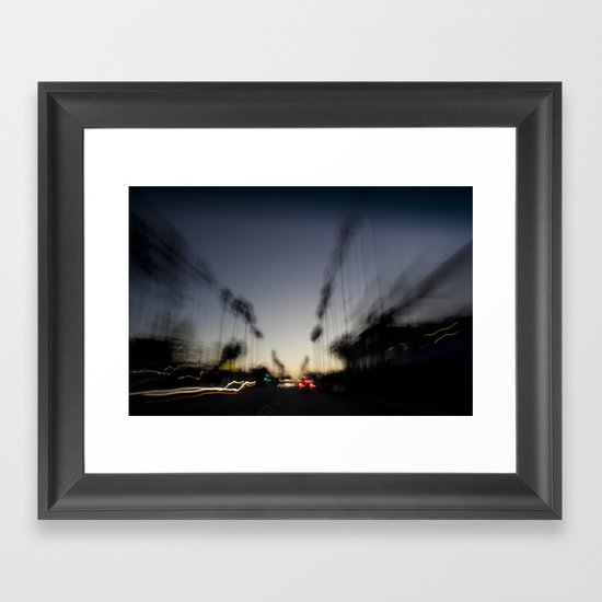 Venice Beach Sunset Framed Art Print