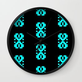 Traditional Romanian folk art knitted embroidery pattern Wall Clock