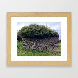 Tree in Wall Framed Art Print
