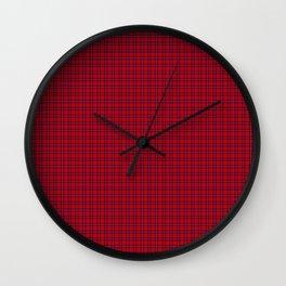Rose Tartan Wall Clock