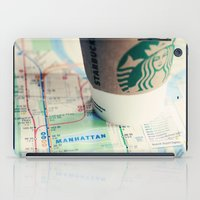 starbucks iPad Cases featuring Manhattan and Starbucks by Kim Fearheiley Photography