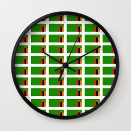 Flag of Zambia -Zambian,Rhodesia,Lusaka,Kitwe,Chipata Wall Clock
