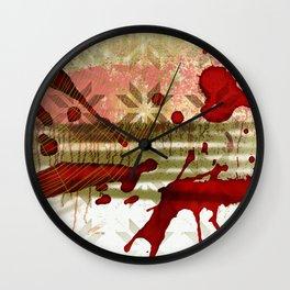 Halloween Abstract Wall Clock