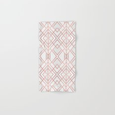 Geo Rose Gold Hand & Bath Towel