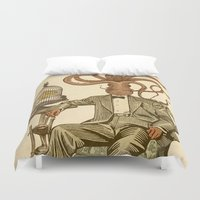 number Duvet Covers featuring Haircut number 8 by Pepetto