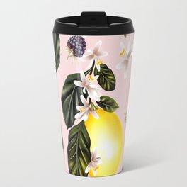 Citrus paradise. Tropical pattern with lemons Travel Mug