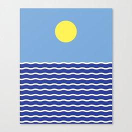 The minimal Sea Canvas Print