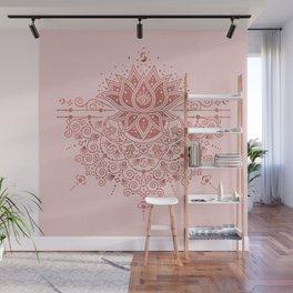 Sacred Lotus Mandala – Rose Gold & Blush Palette Wall Mural