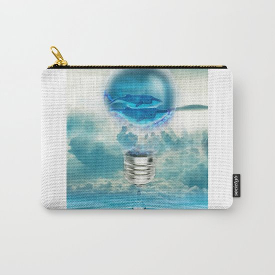 Two Whales - Digital Art by Sharito Lopez Carry-All Pouch