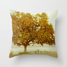 Dreamy Yellow Throw Pillow