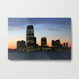 City Lights at Sunset Metal Print