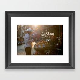 Vietnam street market Framed Art Print