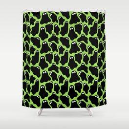 Ghosties (Green) Shower Curtain