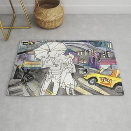 Kissing in New York City Rug