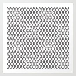 Chainlink Pattern Art Print