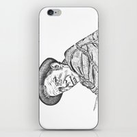 tom waits iPhone & iPod Skins featuring Tom Waits Sketch in Black by JennFolds5 * Jennifer Delamar-Goss