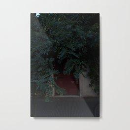 Red Door and Nature Metal Print