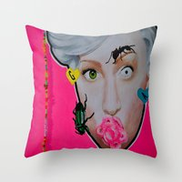 artrave Throw Pillows featuring artRAVE by Sabino Martinez