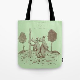 Endangered Love - Rhino Sutra Tote Bag