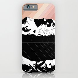 Skintones, Black and White Snowy Mountains iPhone Case