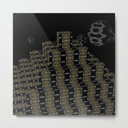Pyramide Grotesque 36 Metal Print