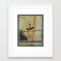 boat Framed Art Prints featuring Boat by Menchulica