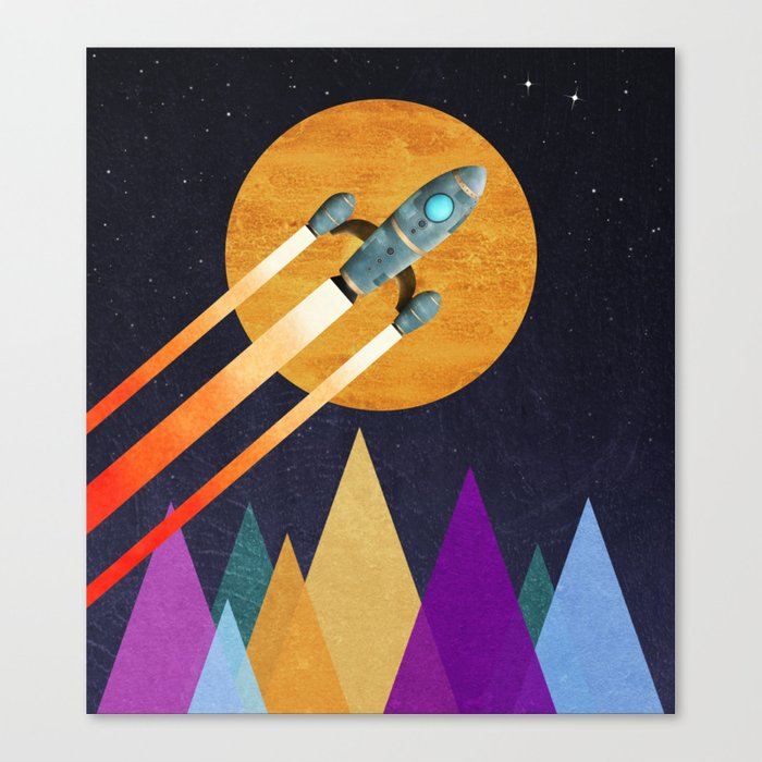 Rocket  2nd Star to the right  LLAP Canvas Print