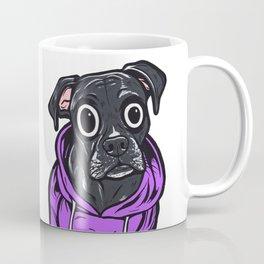 Black Boxer Hoodie Dog Coffee Mug