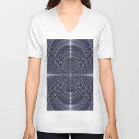 metallic V-neck T-shirts featuring Metallic Light by Lynn Bolt