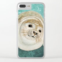 Sea Lion Swimming Clear iPhone Case