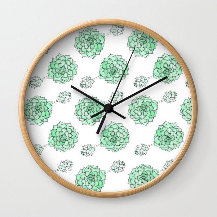 PATTERN II Succulent Life Wall Clock