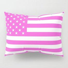 U.S. Flag: Pink Pillow Sham
