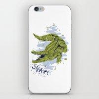 crocodile iPhone & iPod Skins featuring Crocodile by Sam Jones Illustration