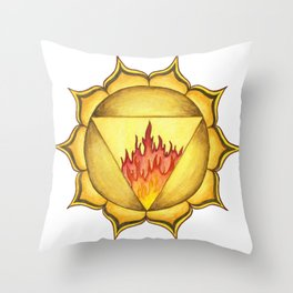 SOLAR PLEXUS CHAKRA Throw Pillow
