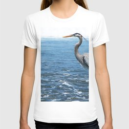 Great Blue Heron on the Pacific Coast in Costa Rica T-shirt
