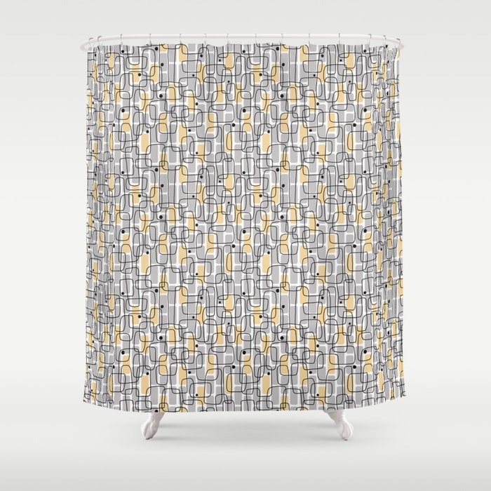 City with lights Shower Curtain