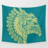 native american Wall Tapestries featuring Native American Storm Trooper  by Quakerninja