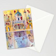Vienna, famous Karlskirche saint Charles Church Stationery Cards