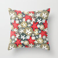 starfish Throw Pillows featuring Starfish by Angela Stevens