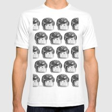 Minifigure Pattern White Mens Fitted Tee MEDIUM