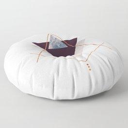 PLUM COPPER AND BLUSH GEOMETRIC Floor Pillow