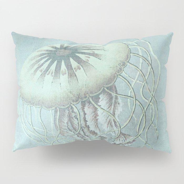 Jellyfish Underwater Aqua Turquoise Art Pillow Sham