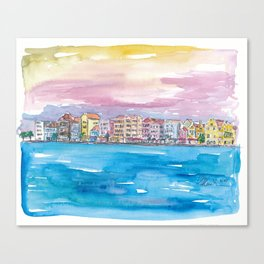 Willemstad Curacao Caribbean Sunset Canvas Print
