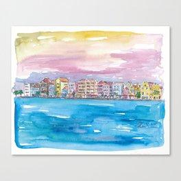 Willemstad Curacao Caribbean Sunset Canvas Print