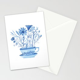 Cup of Flowers Stationery Cards