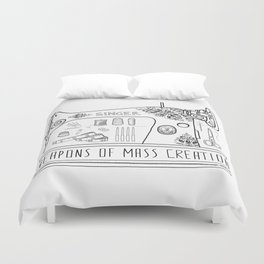 Weapons Of Mass Creation - Sewing Duvet Cover